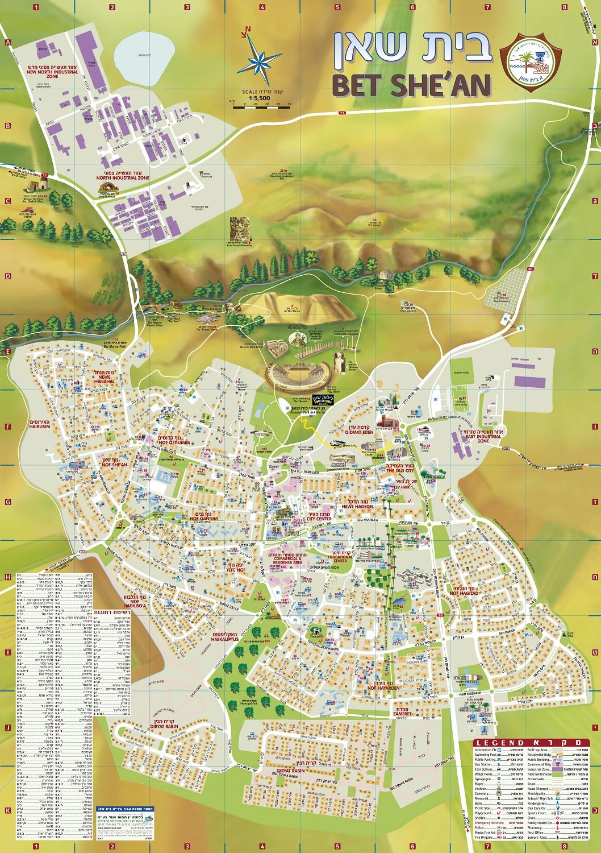 מפת העיר בית שאן
