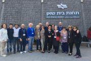 משלחת מתנדבים מהקהילה היהודית בקליבלנד ביקרה בבית שאן ובעמק
